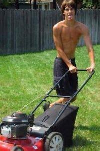 topless lawn boy